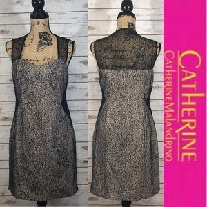 Catherine Catherine Malandrino Lace Accent Dress